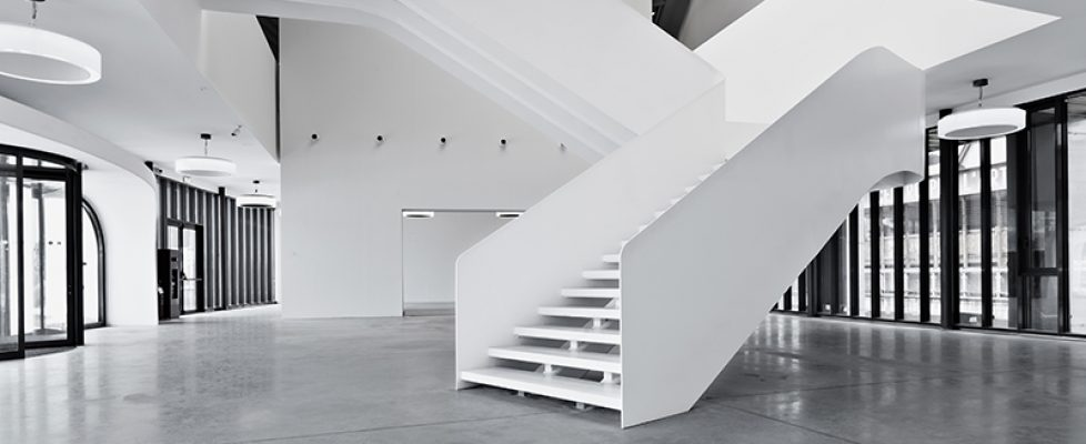 Interior of the new wing designed by Maurice Nio, ground floor. Photo Lineashow