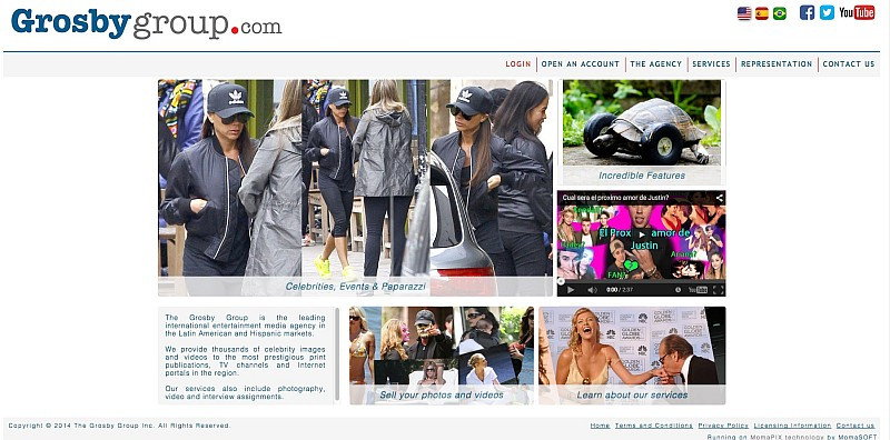 californian agency Grosby Group site, MomaPIX
